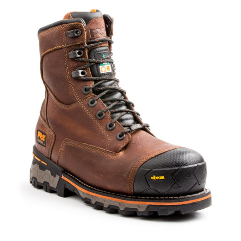 "Timberland PRO Men's 8"" Boondock Work Safety Boot - brown"