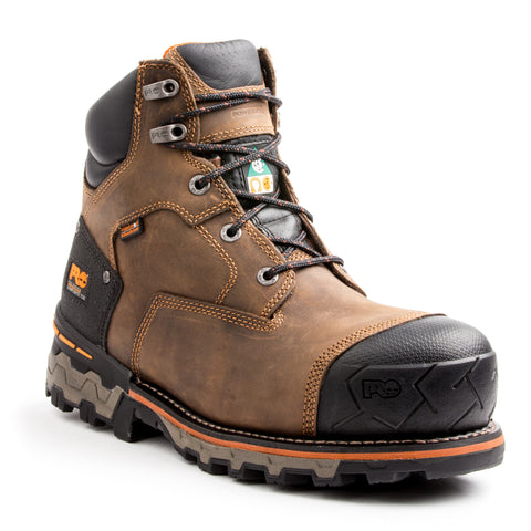 "Timberland Pro Men's Leather 6"" Boondock Composite Toe Safety Boot"