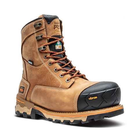"Timberland PRO Men's 8"" Boondock Composite Toe Safety Boot - Wheat"