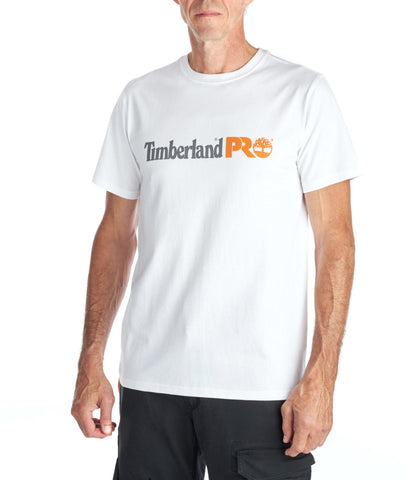 Men's Timberland PRO® Modern Short-Sleeve Cotton Core T-Shirt - White