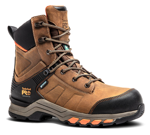 "Timberland PRO Hypercharge 8"" Men's Composite Toe CSA Work Safety Boot - Brown"