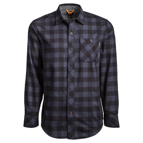Men's Timberland Pro Woodfort Midweight Flannel Work Shirt - Navy Check