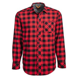 Men's Timberland Pro Woodfort Midweight Flannel Work Shirt - RED
