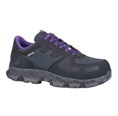Timberland PRO Women's PowerTrain Alloy Toes Work Shoes - Black/Purple