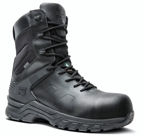 "Timberland PRO Valor 8"" Unisex Soft Toe Side Zip Uniform Boot - Black"