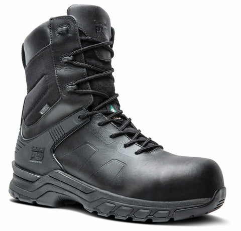 "Timberland PRO Valor 8"" Unisex Composite Toe Waterproof Side Zip Uniform Boot - Black"