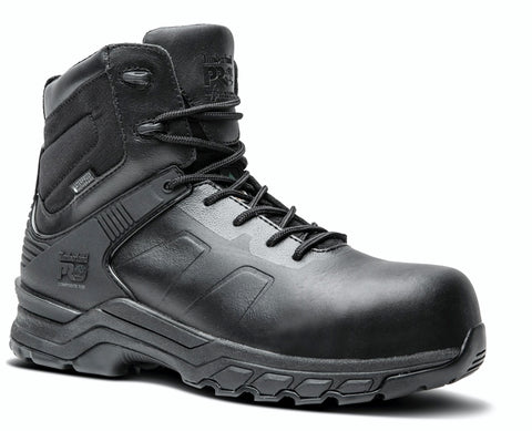 "Timberland PRO Valor 6"" Unisex Composite Toe Waterproof Side Zip Uniform Boot - Black"