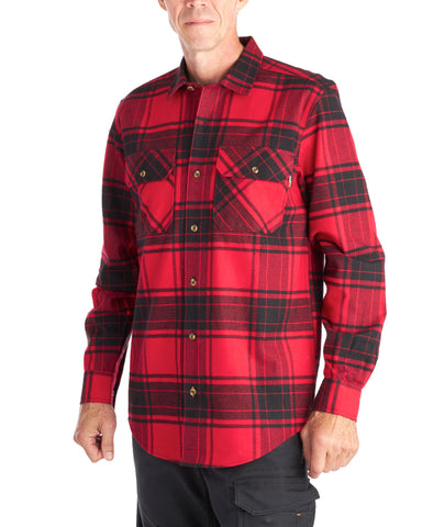 Timberland PRO Woodfort Men's Heavy-Weight Flannel Shirt - RED