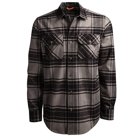 Timberland PRO Woodfort Men's Heavy-Weight Flannel Shirt - GREY