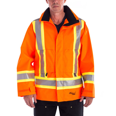 Viking 300D Traffic Rain Jacket in orange