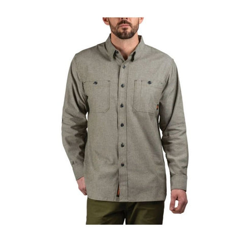 Walls Leroy Mid-weight Brushed Flannel Work Shirt YL995  - Olive