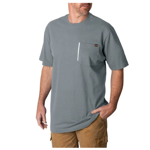 Walls Men's Grit Heavyweight Short Sleeve Work Shirt YS879  - Heather Grey