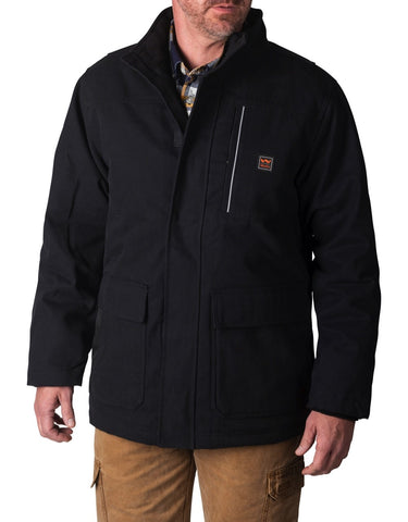 Walls Men's Cypress DWR Duck Insulated Work Coat - Black