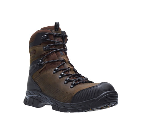 "Wolverine Glacier Xtreme Men's 8"" Composite Toe Work Boot - Brown"