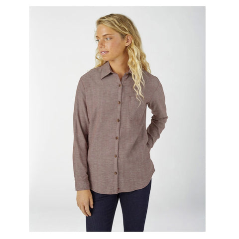 Women's Long Sleeve Plaid Flannel Work Shirt FL075 - Herringbone