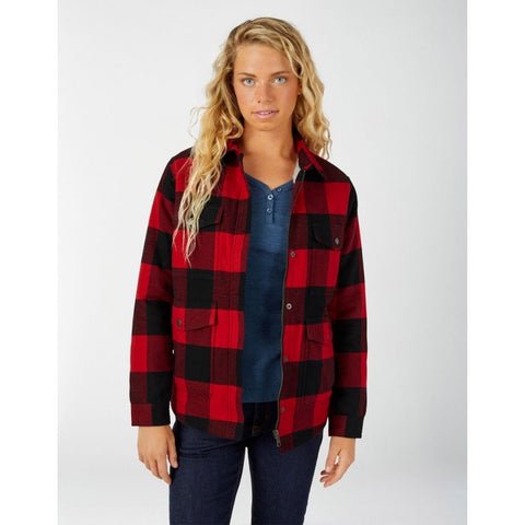 Women's Sherpa Lined Flannel Chore Coat Front