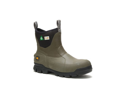 "Cat Stormers 6"" Waterproof Steel Toe Rubber Work Boots"