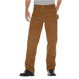 Dickies Sanded Duck Carpenter Work Safety Pant - brown duck