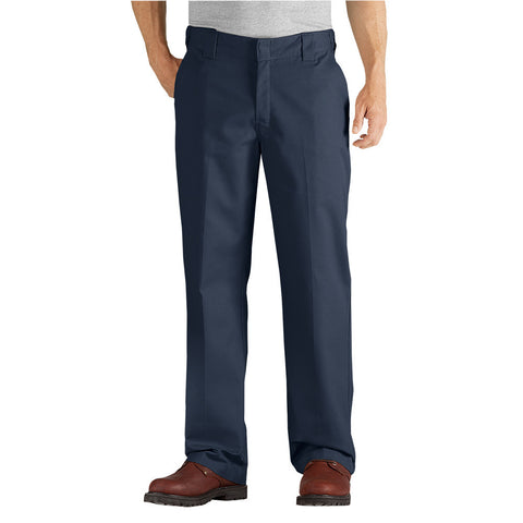 Dickies FLEX Relaxed Fit Straight Leg Twill Comfort Waist Pants WP824 - Navy