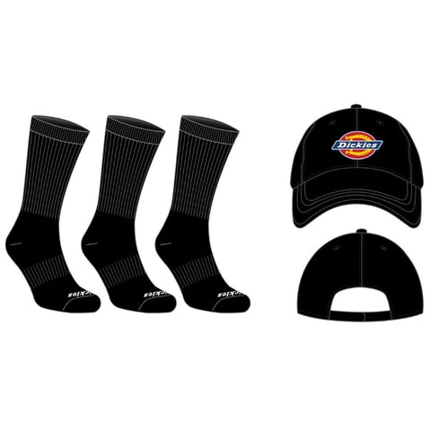 Dickies All-Season Work Socks & Hat Combo DIC-195