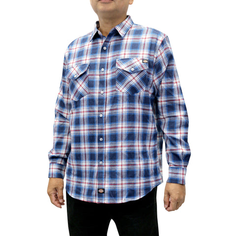 Men's Flannel Long Sleeve Woven Plaid Shirt