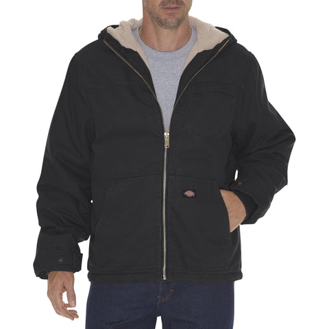 Dickies Sherpa Lined Duck Bomber Work Jacket TJ350 - Black