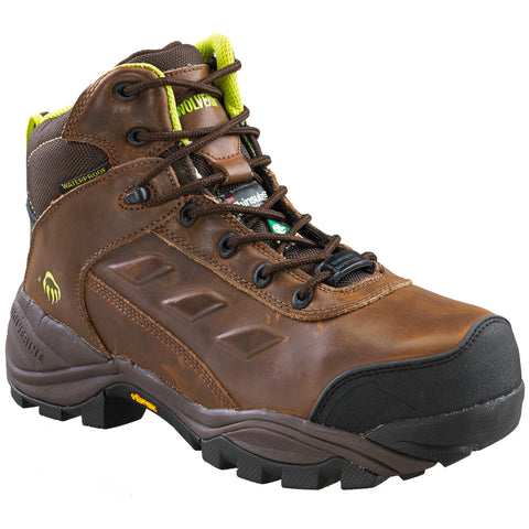 "Wolverine Growler Men's 6"" Composite Toe Brown Leather Work Boot"