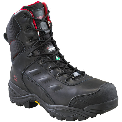 "Wolverine Growler 8"" Men's Composite Toe Work Boots - Black"