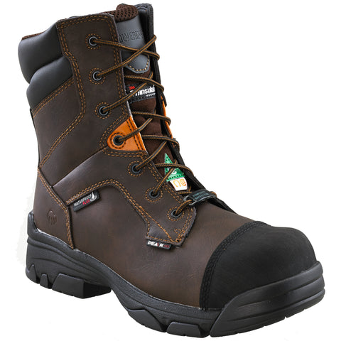 "Wolverine Condor Men's 8"" Steel Toe Work Boot - Brown"