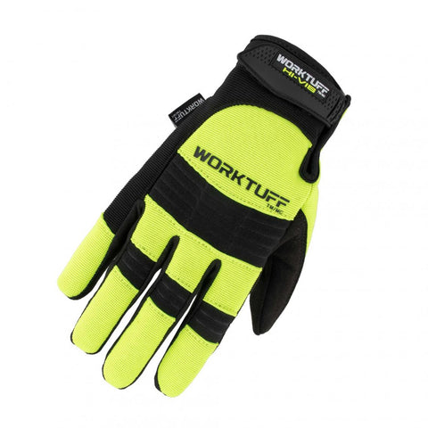 WorkTuff High Visibility Vibration Dampening Gloves - Yellow
