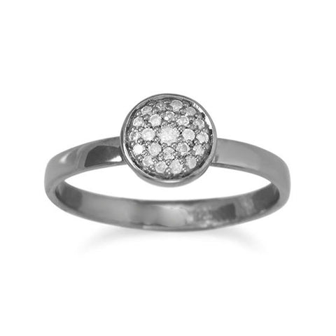 Pave Diamond 7mm Round Ring