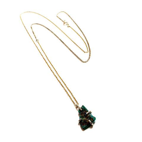 Turquoise Pendant on Silver/Gold Chain