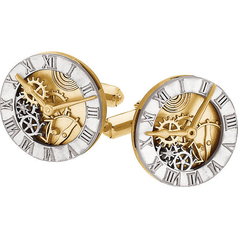 Mens Clock Design Cuff Links