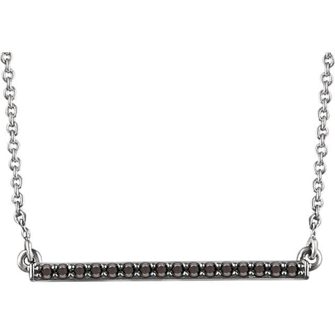 Color Diamond Bar Necklace