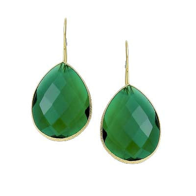 Emerald Green Dangle Earrings