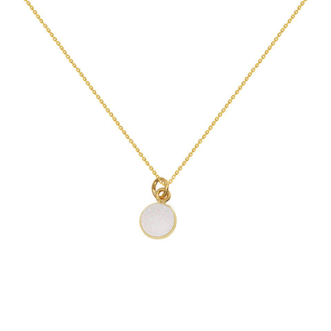Gold Round Druzy Necklaces