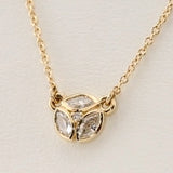 Gold Diamond Marquise Necklace