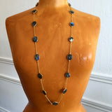Gold Labradorite Long Necklace