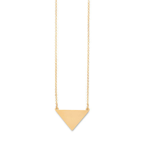 Gold Triangle Personalized Necklace