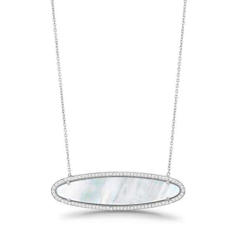 Mother of Pearl Side Oval Necklace