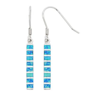 Opal Bar Dangle Earrings