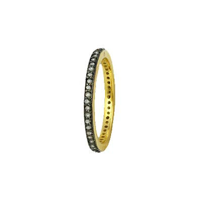 Pave Diamond Thin Eternity Ring
