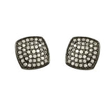 Pave Diamond Square Studs