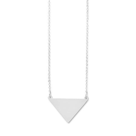 Silver Triangle Personalized Necklace