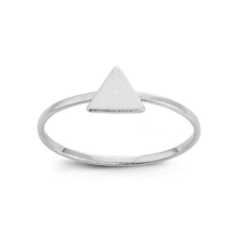 Dainty Sterling Silver Triangle Ring