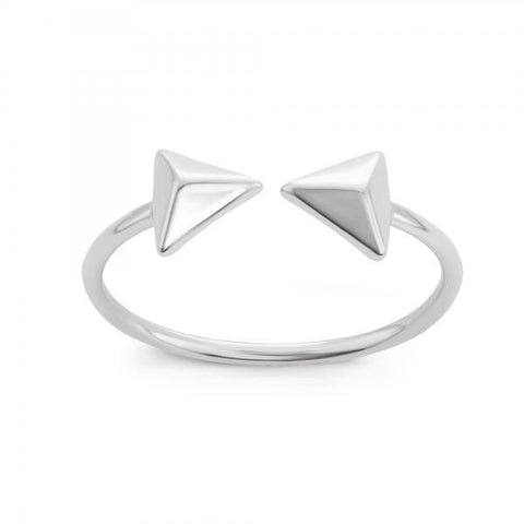 Dainty Sterling Silver Double Arrow Ring