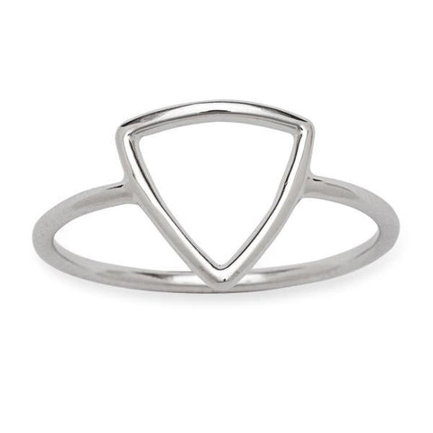 Dainty Sterling Silver Open Triangle Ring