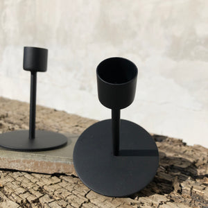 Medium Black Taper Candle Holder - Upstate MN