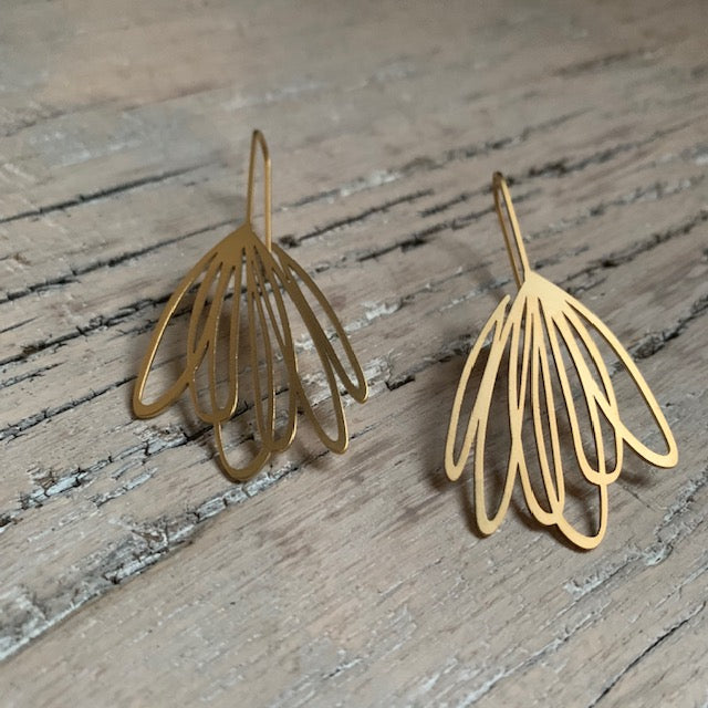 22 CT Gold Plate Echo Earrings by Insync Design - Upstate MN