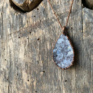 "24"" Fine Druzy Droplet Necklace on Copper Chain by Hawkhouse"